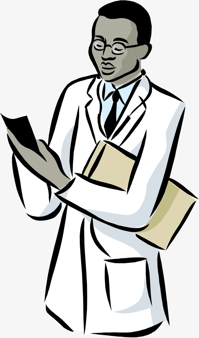 650x1102 The Doctor Who Did The Exam, Doctor Vector, Do Check, Cartoon Png