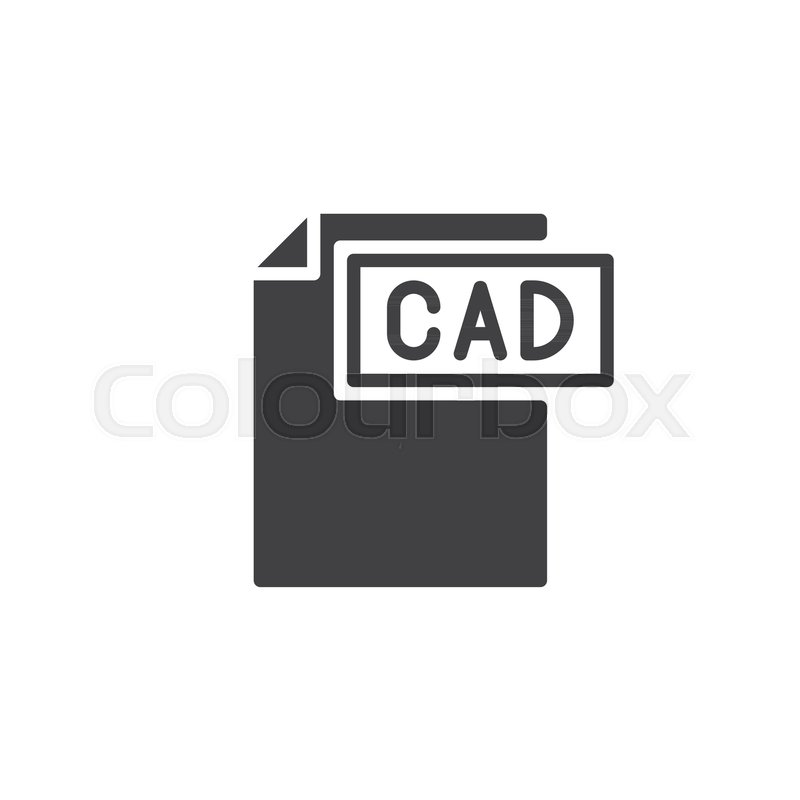 800x800 Cad Format Document Icon Vector, Filled Flat Sign, Solid Pictogram