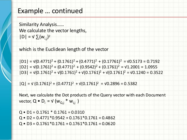 638x479 Document Similarity With Vector Space Model