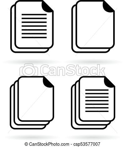 400x470 Document Vector Web Icons Set.