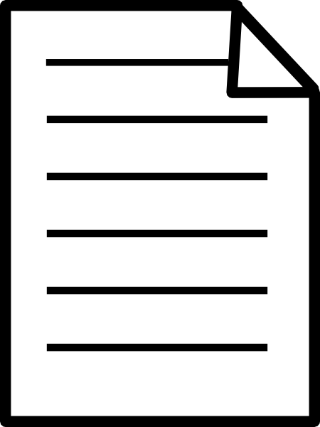 450x600 Paper Document Text Front Clip Art Free Vector 4vector