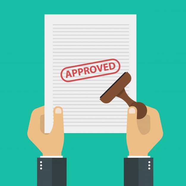 626x626 Approved Document Vector Premium Download