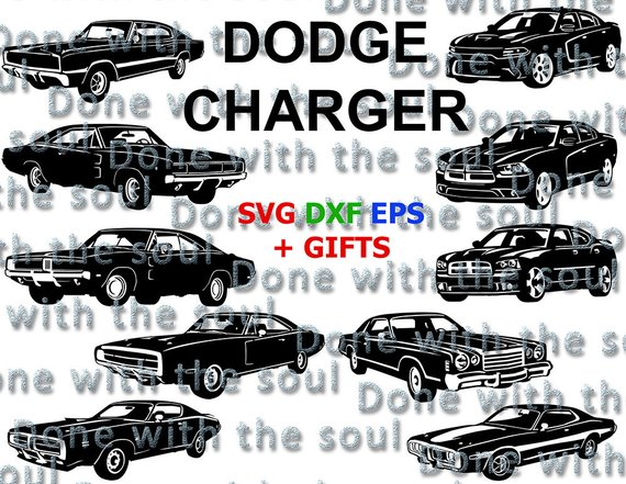 570x441 Dodge Charger Car Vector Dodge Digital Car Svg Daytona Etsy