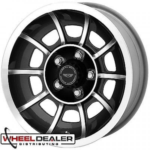 600x600 15x7 15x8.5 American Racing Vector General Lee Wheel Set Dodge
