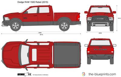 400x255 Dodge Ram 1500 Rebel Vector Drawing