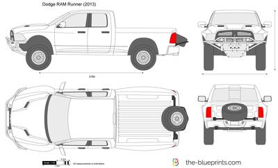 400x242 Dodge Ram Runner Vector Drawing