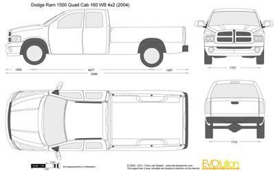 400x249 Dodge Ram 1500 Quad Cab 160 Wb 4x2 Vector Drawing