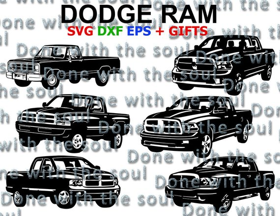 570x441 Dodge Ram Car Vector Ram Svg Dodge Pickup Dodge Svg Etsy