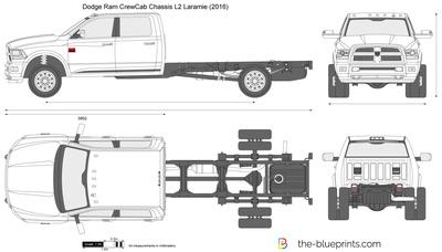 400x228 Dodge Ram Crewcab Chassis L2 Laramie Vector Drawing