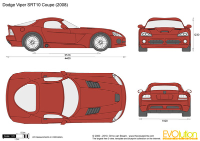 400x283 Dodge Viper Srt10 Coupe Vector Drawing