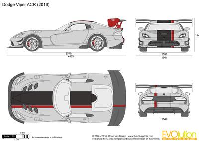 400x283 Dodge Viper Acr Vector Drawing