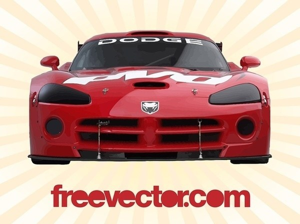 600x448 Dodge Viper Front View Free Vector 123freevectors