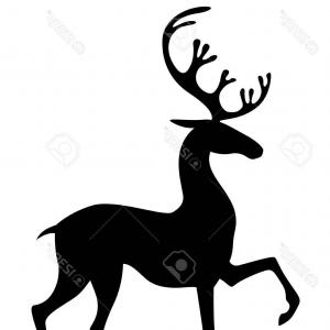 300x300 Stag Doe Head Silhouettes Vector File Orangiausa