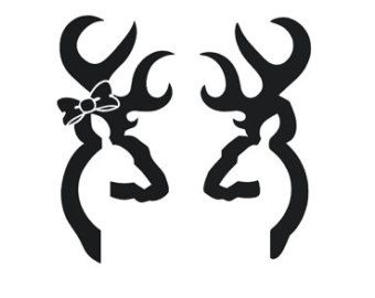 340x270 Browning Doe And Buck Svg Files Vector Images Cricut