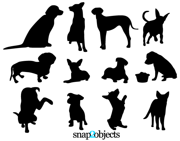 600x470 Dog Vector Art