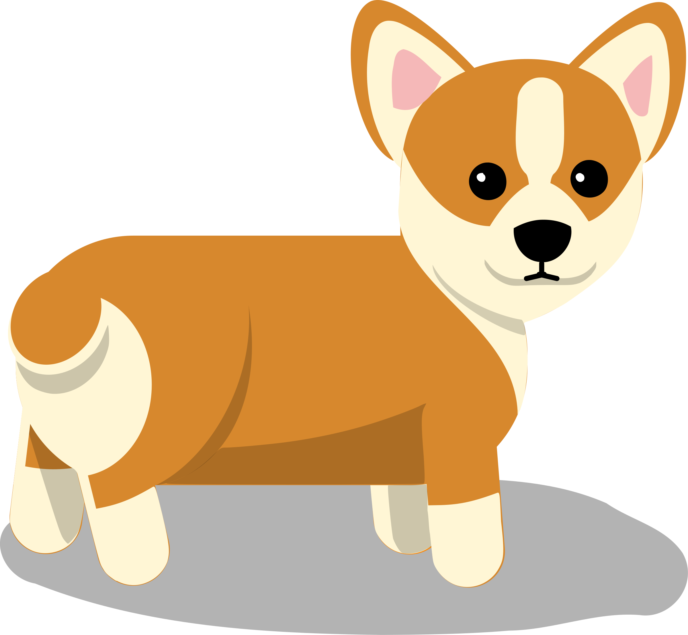 2400x2215 Dog Vector Png