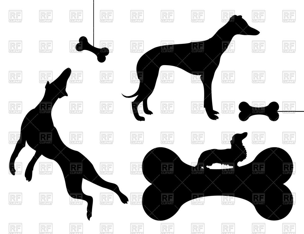 1200x923 Dog Chases Bone Vector Image Vector Artwork Of Plants And