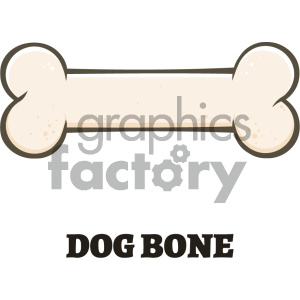 300x300 Royalty Free Royalty Free Rf Clipart Illustration Dog Bone Cartoon