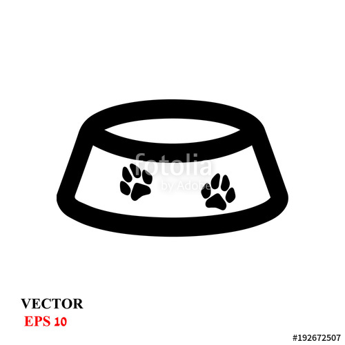 500x500 Pet Dog Bowl Vector Icon Stock Image And Royalty Free Vector