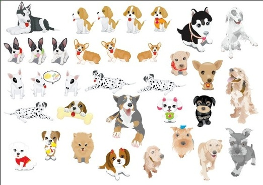 522x368 Cute Dog Cartoon Free Vector Download (19,237 Free Vector) For