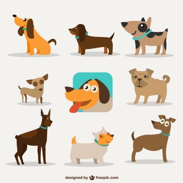 626x626 Dog Cartoon Design Free Vector 123freevectors