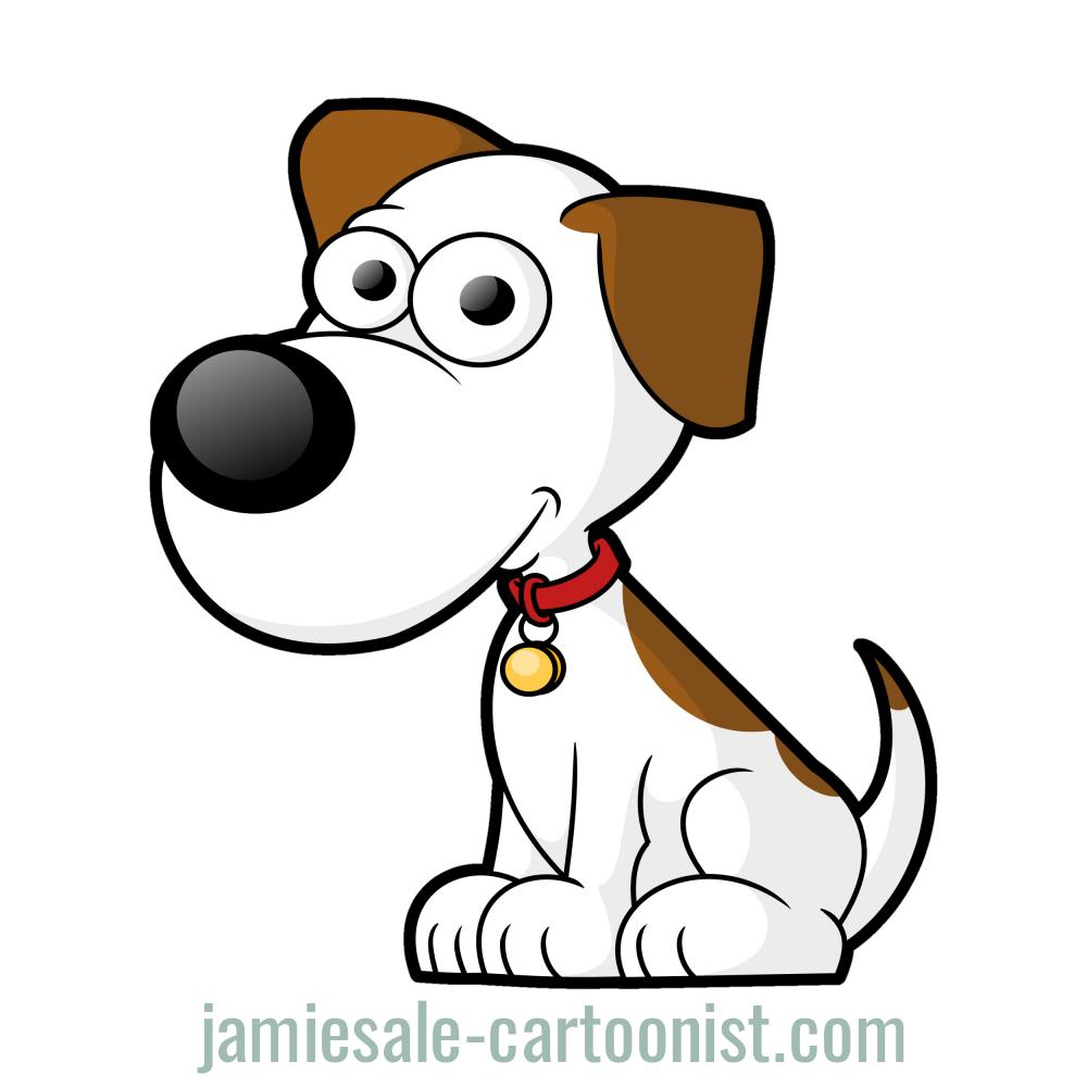 1000x1000 Free Cartoon Dog Vector Clip Art