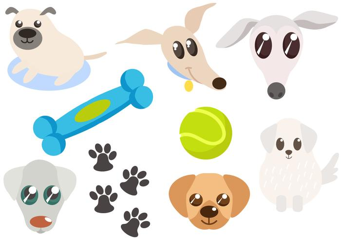 700x490 Free Dogs And Dog Toys Vectors