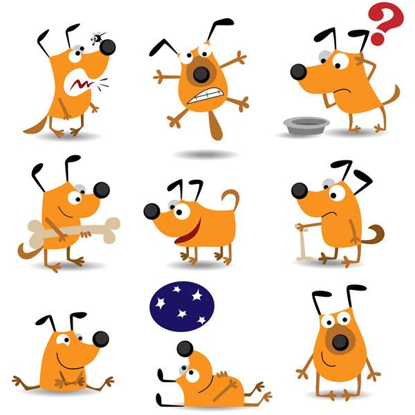 600x600 Vector Cute Cartoon Dog Free Vector 4vector