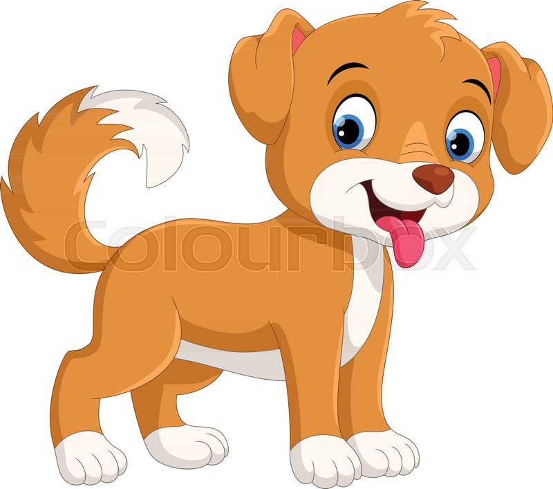 800x707 Vector Illustration Of Cute Little Dog Cartoon Isolated On White