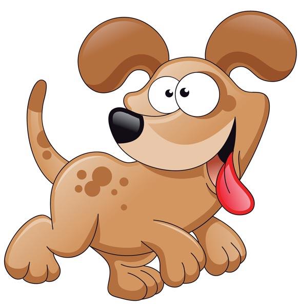 581x600 Cartoon Dog Characters Vector