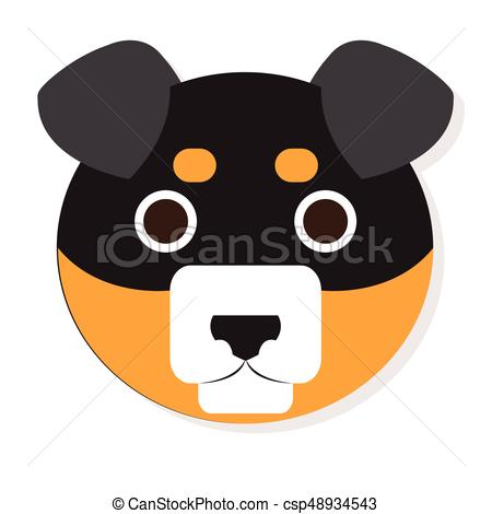 450x470 Isolated Dog Face. Isolated Cute Dog Face On A White Background