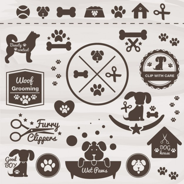 626x626 Dogs Badges Vector Free Download