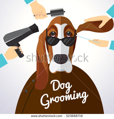 450x470 Collection Of Free Groomed Clipart Dog Grooming. Download On Ubisafe