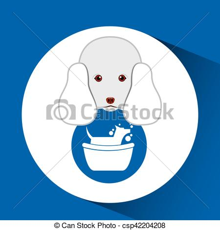 450x470 Digital Pet Shop With Poodle And Dog Grooming Vector Illustration