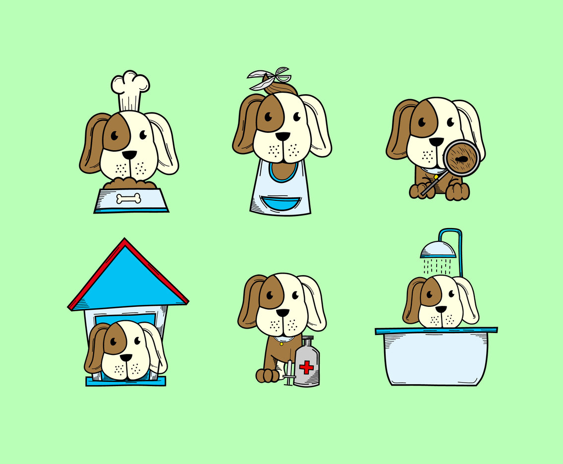 1136x936 Dog Grooming And Care Vector Vector Art Amp Graphics