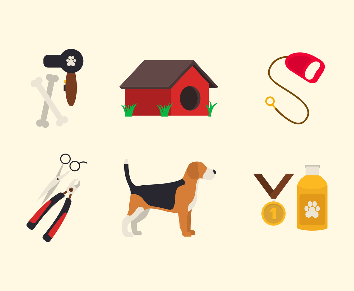 1136x936 Dog Grooming Pet Icon Set Vector Art Amp Graphics