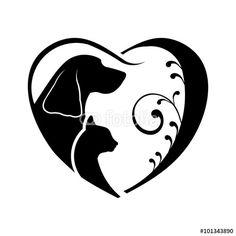 236x236 82 Best Dog Cat Logo Images Dog Cat, Dog Logo And