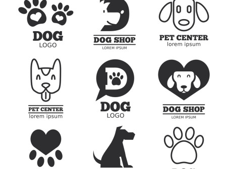 452x336 9 Creative Pet Dogs Logo Vector Icons Free 9 Creative Pet Dogs