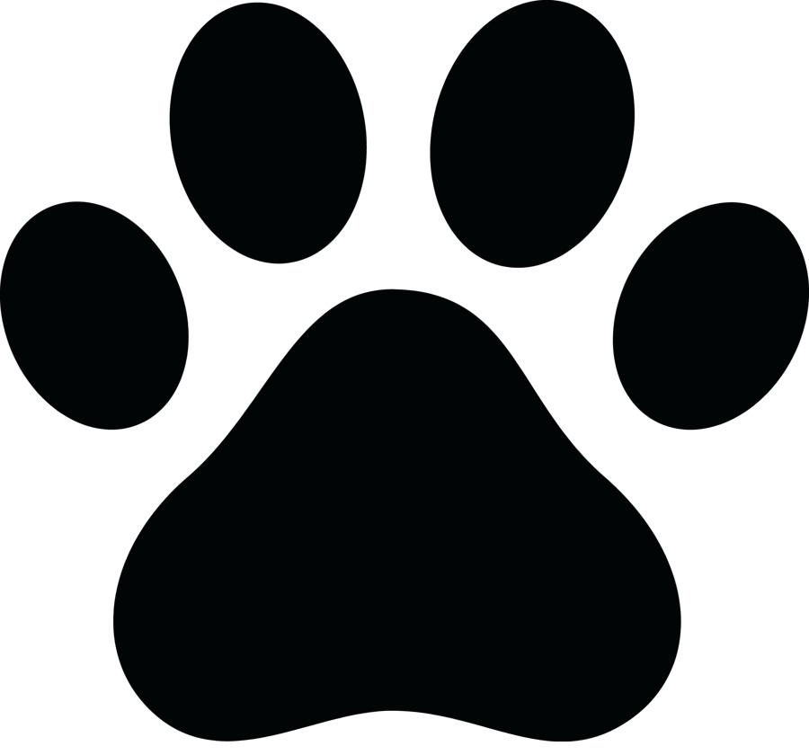 900x840 Bulldog Paw Print Clip Art Awesome Dog Paw Print Clip Art Stylized