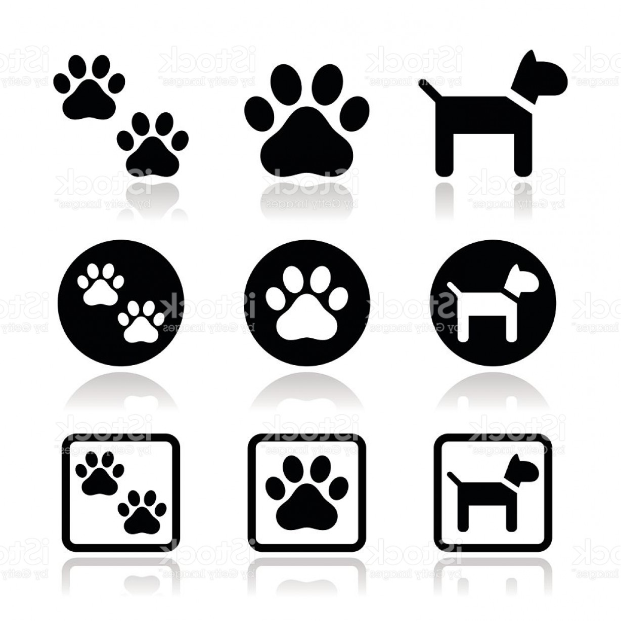 Dog Print Vector at GetDrawings com | Free for personal use