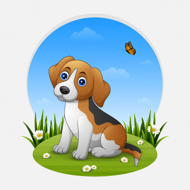 626x626 Cute Dog Sitting Vector Premium Download