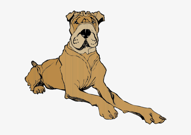 650x461 Cartoon Dog Sitting, Dog Clipart, Cartoon, Sat Png And Vector For