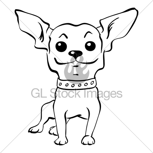 500x500 Vector Sketch Funny Chihuahua Dog Sitting Gl Stock Images