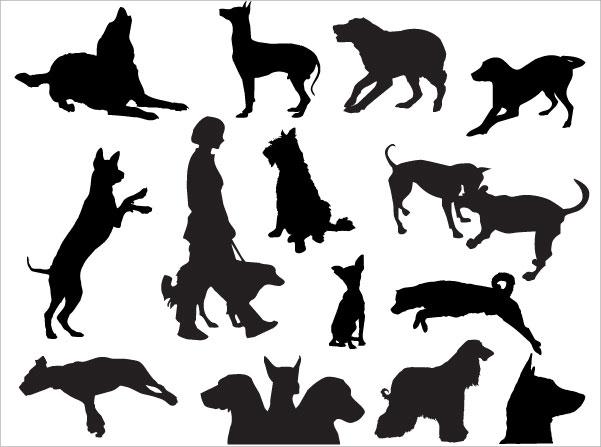 601x447 Dog Silhouettes Desktop Backgrounds