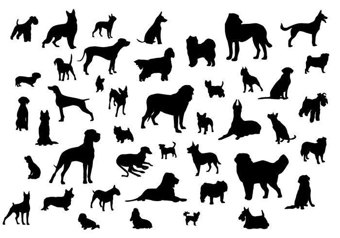 700x490 Dog Silhouettes