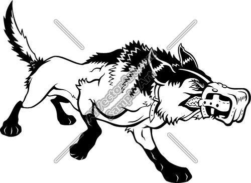 500x365 Muzzle Dog Clipart And Vectorart Sports Mascots