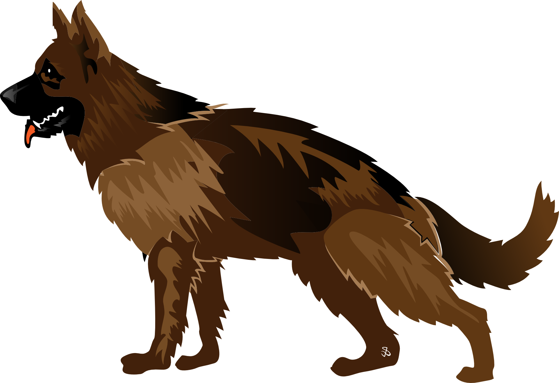 1920x1318 Collection Of Free Dog Vector German Shepherd. Download On Ubisafe