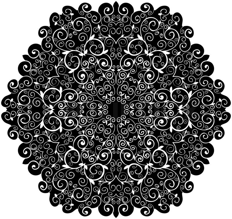 800x752 Doily Pattern Background, With Isolation On A White Background
