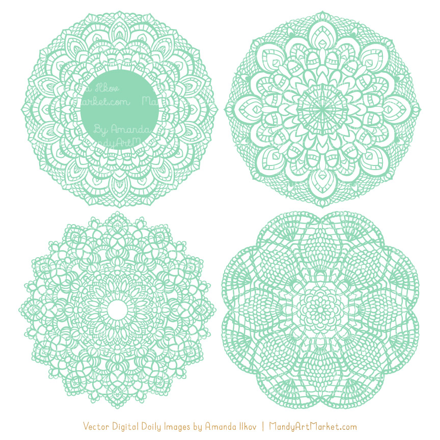 864x864 Collection Of Free Doyly Clipart Turquoise Lace. Download On Ubisafe