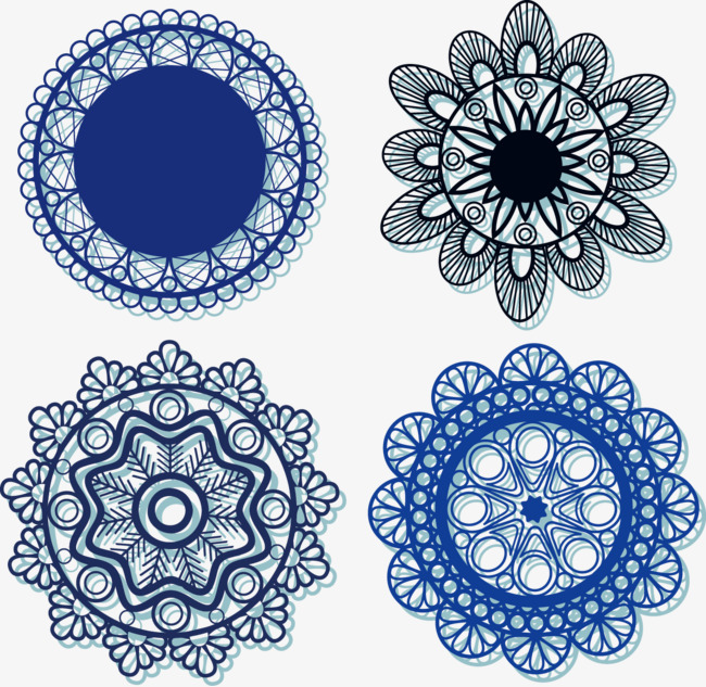 650x633 Decorative Pattern Lace, Decorative Pattern, Shading, Blue Png And